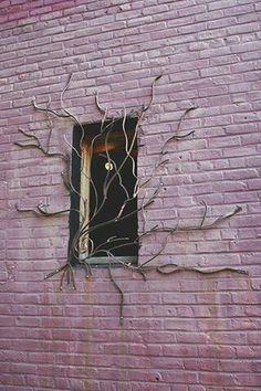 Artistic iron work window gate decoration