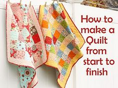 I have a collection of memorable pieces and scraps from the clothes that my 2 boys wore as babies and toddlers... I will make a memory quilt.