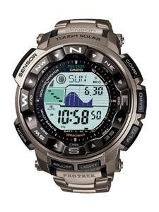 Casio Men's PRW2500T-7CR Pathfinder Triple Sensor Tough Solar Digital Multi-Function Titanium Pathfinder Watch