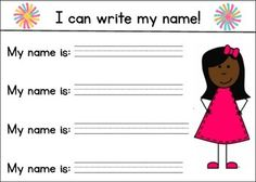 """-Size 5""""x7""""-This is a great resource for morning work, small group work, or a writing center. To use at the beginning of the year, and throughout the year as necessary. -You may print on cardstock, write their names and laminate for them to use with whiteboard markers and practice, or print as needed!PLEASE RATE AND COMMENT! :)"""