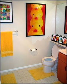 rubber duck posters | rubber ducky bathroom decorating ideas-colorful rubber duck decorating - for upstairs bathroom