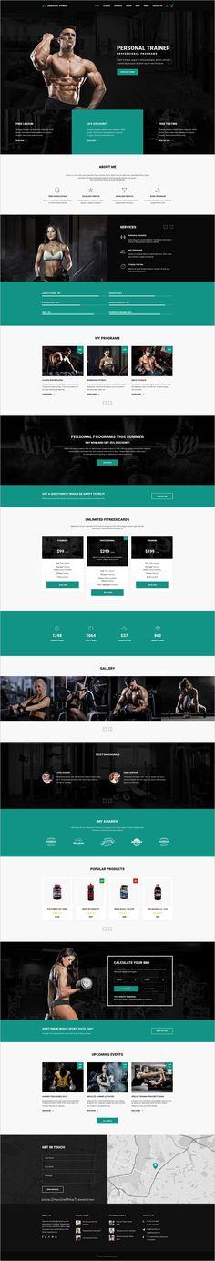 193 best fitness website images on Pinterest in 2018   Design web ...