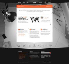 Pixel Studio - Premium #Website Template - Dark by Nicola Mihaita, via #Behance