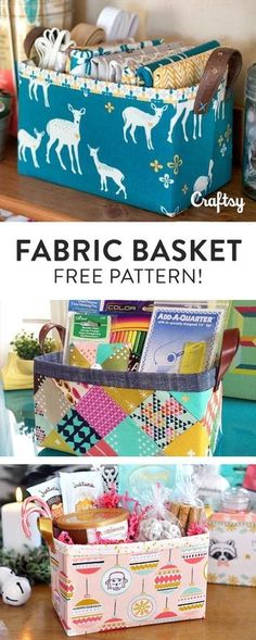 Saved in my Craftsy account; 2 fat quarters & fusible fleece or firmer for support. jfm