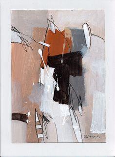 original abstrakt akryl painting on paper acrylic by kuzennyArt
