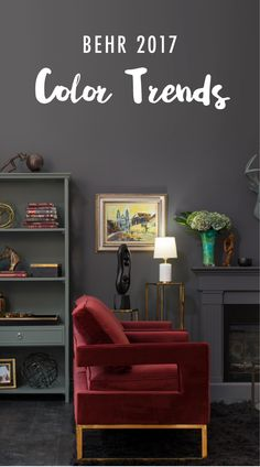 Whether you're looking to update your dining room, entryway, or kitchen space with a bold style and color scheme, the 2017 BEHR Color Trends are sure to help you bring a cohesive feel to your entire home!