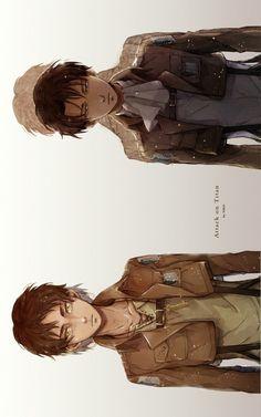 Levi and Eren - Attack on Titan