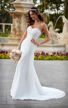 Cocktail Wedding Dresses 2016 Summer Beach Wedding Dresses By Stella York Sweetheart Neck Ruched Beaded Chiffon Fit And Flare Bridal Gowns With Sleeveless Lace Up Tool Wedding Dress From Nicedressonline, $156.64| Dhgate.Com