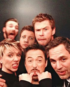 Avengers Assemble ... with goofy faces