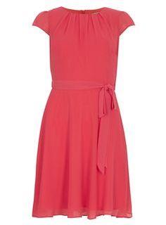 **Billie & Blossom Coral soft belted dress