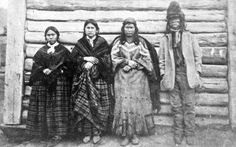 [Jean Baptiste Lolo St. Paul and family in front of a Hudson's Bay Company cabin, Kamloops, B.C.] - City of Vancouver Archives