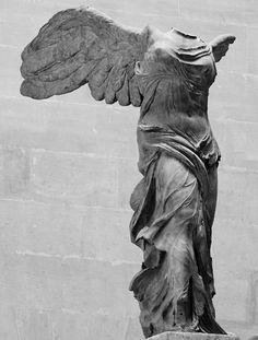 Winged Victory of Samothrace (Nike of Samothrace), century BCE, Louvre, Paris. Rainer Maria Rilke, Nike Goddess Of Victory, Winged Victory Of Samothrace, Sculptures, Lion Sculpture, Greek Art, Ancient Art, Art History, Art Inspo