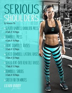 Tabata exercises for beginners and advanced - Muscles for Womens Shoulder Workout Women, Back And Shoulder Workout, Shoulder Workout Routine, Barbell Shoulder Press, Insanity Workout, Workout Plans, Tennis Workout, Fun Workouts, Elliptical Workouts