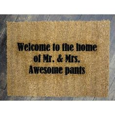 Gotta make this for some friends! Very great door mat.