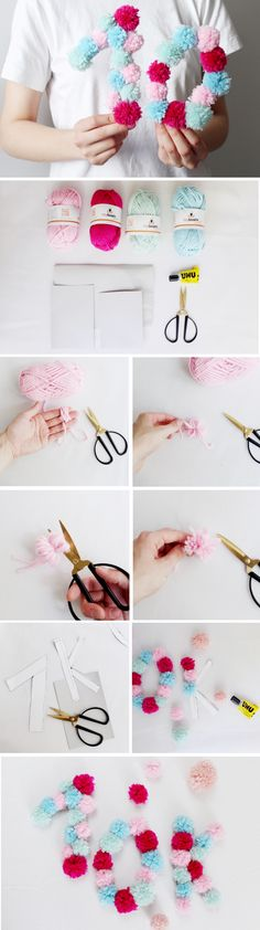 DIY tutorial for making super easy pompoms!