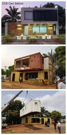 Shipping Container Home in Abuja – NigeriaYou can find Small house design and more on our website.Shipping Container Home in Abuja – Nigeria Shipping Container Home Designs, Shipping Container House Plans, Shipping Containers, Container Buildings, Building A Container Home, Cargo Container Homes, Storage Container Homes, Small House Design, Modern House Design