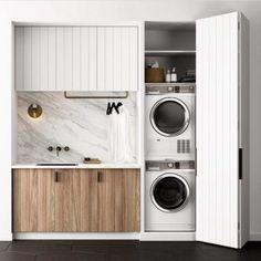 Hidden Laundry Rooms, Laundry Room Organization, Laundry Room Design, Laundry Storage, Folding Laundry, Small Storage, Diy Storage, Small Shelves, Storage Ideas