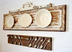 white ironstone platters.jpg  oh, but I'd have a hard time mounting those spoons!