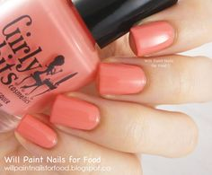 Will Paint Nails for Food: New Cremes By Girly Bits: Lover's Coral, Mint To Be, and Private Dancer