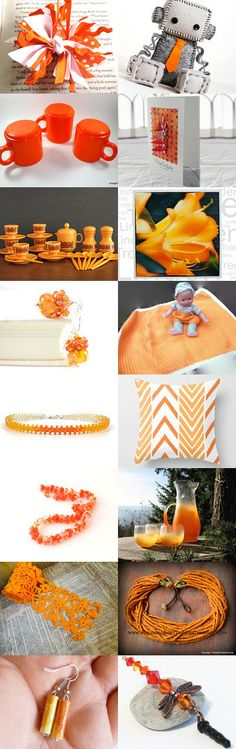 Cadmium Orange by Shannon on Etsy--Pinned with TreasuryPin.com