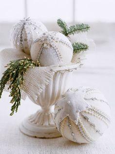 White Felt Ornaments
