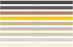 Paleta de colores neutros