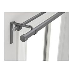 IKEA - RÄCKA / HUGAD, Double curtain rod combination, You can combine two layers of curtains, one thick and one thin, using the double rod.The length is adjustable.