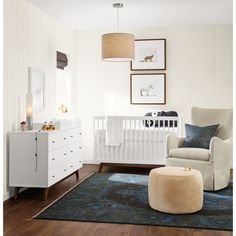 The Ellery swivel glider offers perfectly proportioned comfort for snuggling with your little one. Photo 1 of 19 in 23 Cool Cribs for the Modern Baby from Modern Kids & Nursery Furniture. Browse inspirational photos of modern homes. Modern Kids Bedroom, Modern Kids Furniture, Modern Crib, Nursery Furniture, Nursery Room, Modern Rugs, Modern Living, Nursery Modern, Modern Nurseries