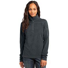 Eddie Bauer Women's Polyester 1/4-Zip Grid Fleece Pullover Jacket, Iron