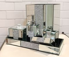 The best 100 crystal bathroom accessories sets image for Bella lux bathroom accessories uk
