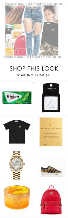 """""""adidas contest"""" by geazybxtch24 ❤ liked on Polyvore featuring Topshop, Dogeared, Rolex, adidas, Victoria's Secret, MCM and LOTTA"""