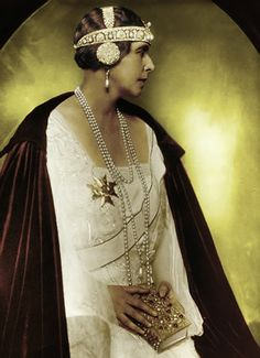 Queen Marie of Romania. 1920s tiaras are hard to love.