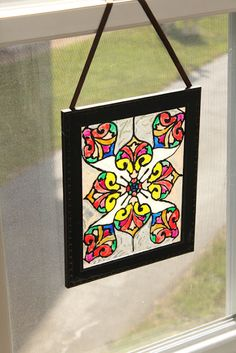 Make your own faux stained glass: our first school art project!