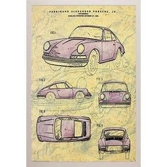 Vintage Porsche Patent Poster With Choice of Frame