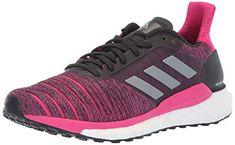 3f81773386 adidas Women's Solar Glide Running Shoe, Carbon/Grey/Real Magenta, 7.5 M US