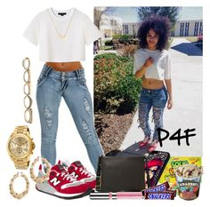 """""""Passion 4Fashion: Want The Cookie So I Gotta Chips-Ahoy These...."""" by shygurl1 ❤ liked on Polyvore featuring Alexander Wang, New Balance, Stella & Bow, FOSSIL, ASOS, Michael Kors and Sole Society"""