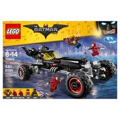 LEGO® Batman Movie - The Batmobile 70905:<br>Pursue Man-Bat™ and the Kabuki Twins™ in the Batmobile with three driving modes! Race through Gotham City in pursuit of Man-Bat™ and the Kabuki Twins™ in the Batmobile. This set from THE LEGO® BATMAN MOVIE features the Batmobile with a dual cockpit for Batman™ and Robin™, two stud shooters and multidirectional wheels for three different modes—race mode, monster ...