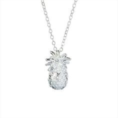 XL-245 silver plated simple charm long necklace summer new fashion metal pineapple pendant necklace for wedding accessories
