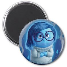 Forecast is for Blue Skies 2 Inch Round Magnet | Disney Pixar Inside Out Movie