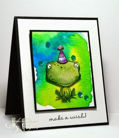 A Watercolored Freckles the Frog!