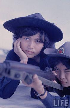 1961 VC girls. #VietnamMemories
