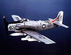 "Douglas AD-1J Skyraider, or ""Spad"" as they were casually known. The spad served as a stable tactical bombing platform through Korea and Vietnam. This aircraft caries the markings of VA- 176, part of Carrier Air Group 14 in 1966."