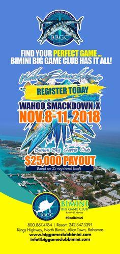 Bimini Wahoo Smackdown X - November 2018 Caribbean Vacations, Caribbean Sea, Alice Town, Bahamas Hotels, Marina Resort, Big Sea, Perfect Game, Set Sail, Philippines Travel