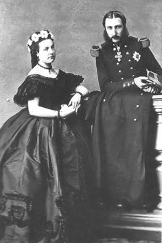 Leopold II and his wife, Marie Henriette.