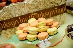 Pumpkin and squash Macarons !  Custom Dessert Bar styled by Ganache. Like us at www.facebook.com/styledbyganache