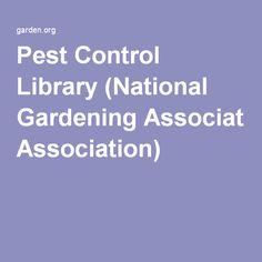 Pest Control Library (National Gardening Association)