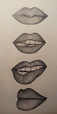 Amazing Lip Drawing Ideas & Inspiration Need some drawing inspiration? - Amazing Lip Drawing Ideas & Inspiration Need some drawing inspiration? Well come to - Pencil Art Drawings, Art Drawings Sketches, Cute Drawings, Cool Easy Drawings, Mouth Drawing Easy, Drawings Of Lips, Easy Eye Drawing, Tumblr Drawings Easy, Horse Drawings