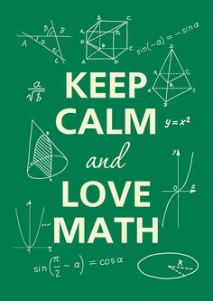 Keep calm and love math by Agadart on Etsy