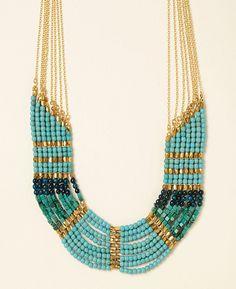Nakamol 8 Row Navajo Bead Collar Necklace