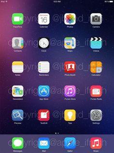 Screenshot  of #iOS8 on iPad